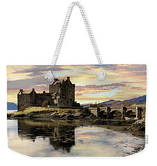 Weekender Tote Bag featuring the photograph Eilean Donan Castle Scotland by Jacqi Elmslie