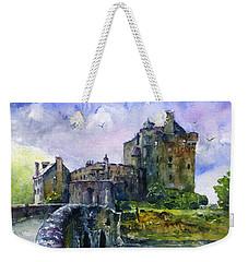 Eilean Donan Castle Scotland Weekender Tote Bag by John D Benson