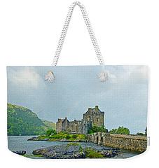 Eilean Donan Castle Textured 2 Weekender Tote Bag