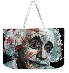 Einstein  Weekender Tote Bag by Laur Iduc