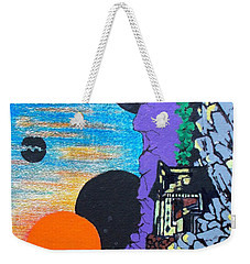 Weekender Tote Bag featuring the painting Eirian Fukei by Pg Reproductions