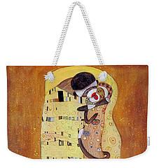 The Smooch Weekender Tote Bag by Randy Burns