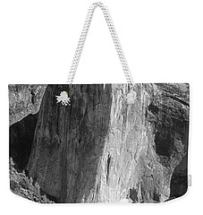 106663-el Capitan From Higher Cathedral Spire, Bw Weekender Tote Bag