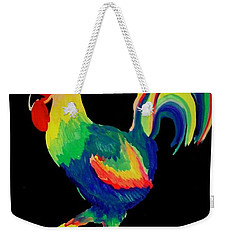 Weekender Tote Bag featuring the painting El Gallo by Marisela Mungia