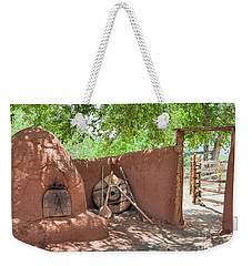 Weekender Tote Bag featuring the photograph El Rancho De Las Golondrinas by Roselynne Broussard