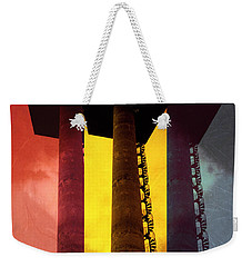 Weekender Tote Bag featuring the photograph Elastic Concrete Part Three by Sir Josef - Social Critic - ART