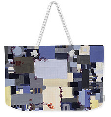 Elastic Dialog Weekender Tote Bag by Regina Valluzzi