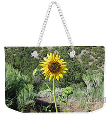 Elated Sunflower Weekender Tote Bag