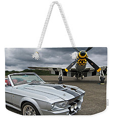 Eleanor Mustang With P51 Weekender Tote Bag by Gill Billington