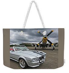 Eleanor Mustang With P51 Weekender Tote Bag