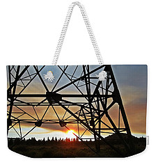 Weekender Tote Bag featuring the photograph Elecrical Tower Architecture by Jennifer Muller