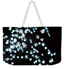 Electric Cherry Blossoms At Night Abstract Weekender Tote Bag