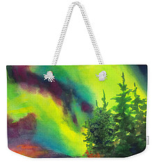Electric Green In The Sky 2 Weekender Tote Bag