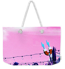 Electric Pink Weekender Tote Bag by Valerie Reeves