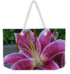 Weekender Tote Bag featuring the photograph Elegance by Lingfai Leung