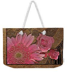 Elegant Gold Lace Weekender Tote Bag