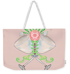 Weekender Tote Bag featuring the digital art Elegant Wedding by Christine Fournier