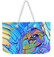 Elephant - Sky Blue Weekender Tote Bag