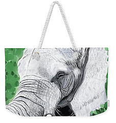 Weekender Tote Bag featuring the painting Elephant 1 by Jeanne Fischer
