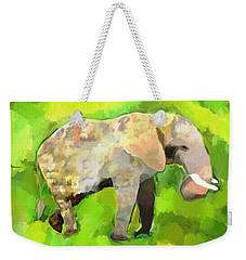 Weekender Tote Bag featuring the painting Elephant 4 by Jeanne Fischer