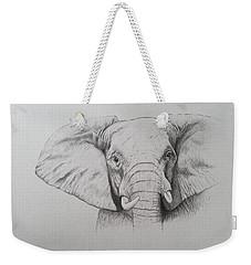 Elephant Weekender Tote Bag by Ele Grafton