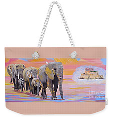 Elephant Fantasy Must Open Weekender Tote Bag