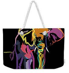 Elephant In Colour Weekender Tote Bag