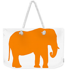 Elephant In Orange And White Weekender Tote Bag