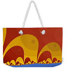 Weekender Tote Bag featuring the digital art Elephant Lake by Mark Greenberg
