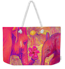 Elephant Love Weekender Tote Bag by Jane Schnetlage