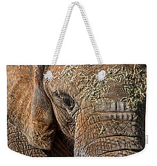 Elephant Never Forgets Weekender Tote Bag by Miroslava Jurcik