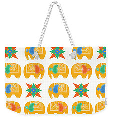 Elephant Print Weekender Tote Bag by Susan Claire