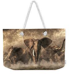 Elephant Stampede Weekender Tote Bag