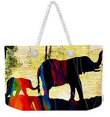 Elephant Walk Weekender Tote Bag by Marvin Blaine