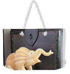 Elephant With Elephant Box Weekender Tote Bag