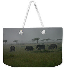 Elephants In Heavy Rain Weekender Tote Bag