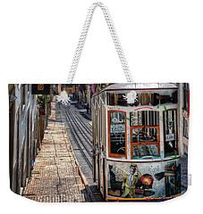 Elevador Da Bica Lisbon Weekender Tote Bag by Carol Japp
