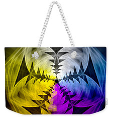 Weekender Tote Bag featuring the drawing Eleven Magick Stars by Derek Gedney