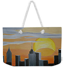 Elipse At Sunrise Weekender Tote Bag by Donna Blossom