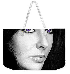 Elizabeth Taylor Weekender Tote Bag by George Pedro