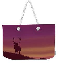 Elk At Dusk Weekender Tote Bag