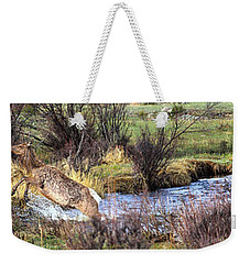 Elk In Motion Weekender Tote Bag