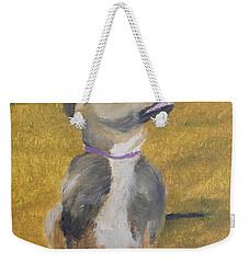 Weekender Tote Bag featuring the painting Ella by Pamela  Meredith