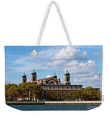 Weekender Tote Bag featuring the photograph Ellis Island by Eleanor Abramson