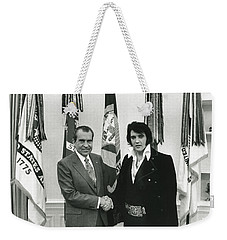 Elvis And Nixon Weekender Tote Bag