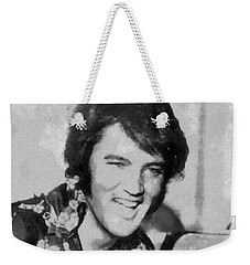 Elvis Presley Rock N Roll Star Weekender Tote Bag