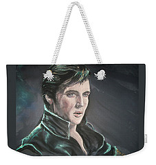 Weekender Tote Bag featuring the mixed media Elvis by Peter Suhocke