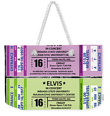 Weekender Tote Bag featuring the digital art Elvis Presely Tickets by Marvin Blaine