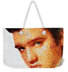 Elvis Presley The King Of Rock Music Weekender Tote Bag