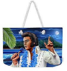 Elvis The Legend Weekender Tote Bag by Glenn Holbrook